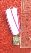 Belgique - Rare Miniature de la médaille de la Défense Passive 1940-45 - argenté
