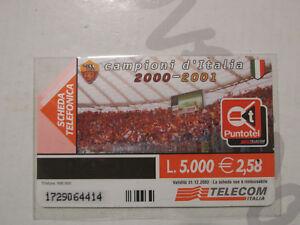 SCHEDA TELEFONICA TELECOM - AS ROMA - CAMPIONI D'ITALIA 2000 - 2001 - perfetta