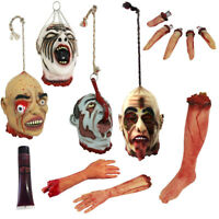 9 PIECE SEVERED LIFE SIZE LIMBS PARTY PROP PACK HALLOWEEN SCARY DECORATION LOT