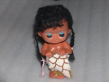 Vintage Cute Rubber Doll - Girl With Towel, Hong Kong, 1970s