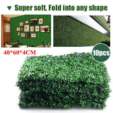 10PCS Artificial Boxwood Hedge Fake Vertical Garden Green Wall Ivy Fence Mat