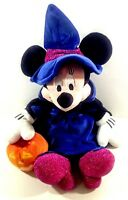 "Disney Store Plush Minnie Mouse Witch Stuffed Animal 14"" Toy Doll"