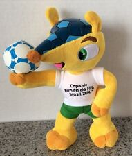 "Fifa Copa Do Mundo Da Brasil 2014 Plush Yellow 10"" Stuffed Animal W Soccer Ball"
