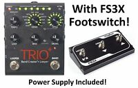 New DigiTech Trio+ Band Creator Plus Looper Guitar Effects Pedal w/ FS3X Trio +