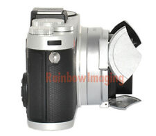 JJC Silver Self-Retaining Close Open Auto Lens Cap for Leica X1 X2 Camera