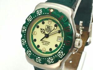 TAG HEUER Watch Formula 1 WA1412 Green  Quartz St.Steel Date   T2228