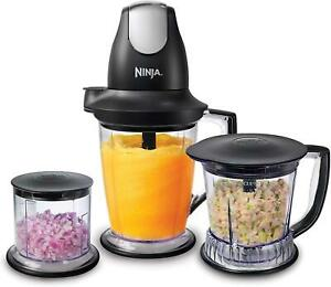 Ninja Food Processer Blender Chopper 450W Pulse Shakes Smoothies Chopper Bowl
