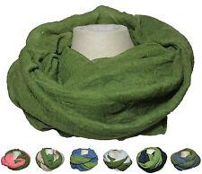 Weicher leichter Loop Rundschal Tuch gewebt groß Grün