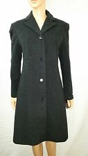 Women's New Anne Klein Charcoal Gray Lambswool Cashmere Blend Coat Size 4 NWT