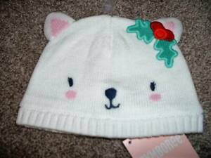 Gymboree Baby Girls Holiday Shop Sweater Hat Kitty Beanie 0-6 6-12 12-24 mos NWT