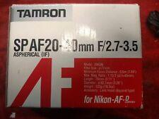 (NEW IN BOX!!)Tamron SP AF Aspherical IF 20-40mm F/2.7-3.5 Lens for Nikon- Af.D