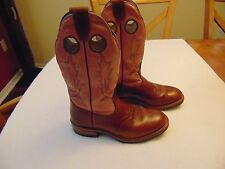 Women's Beoulet Canada Brown/Pink Square Toe Western CowGirl Boots-7C
