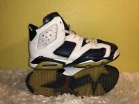 Youth Air Jordan 6 Retro GS Olympic 2012 Basketball Shoes 384665-130 Size 5Y
