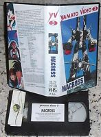 VHS YAMATO VIDEO 3 FILM MANGA ROBOT-MACROSS MOVIE 80-ANIME INEDITO DVD robotech