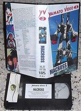VHS YAMATO VIDEO 3 FILM MANGA ROBOT-MACROSS MOVIE 80-ANIME INEDITO DVD robotech