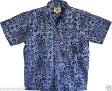 Geometric 100% Cotton Hawaiian Casual Shirts for Men