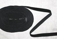 1,03€/m 3m schwarzes Samtband 10 mm Borte Samt Zierband Gothic Meterware NEU
