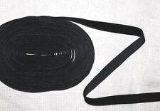 1,10€/m 1m schwarzes Samtband 10 mm Borte Samt Zierband Gothic Meterware NEU