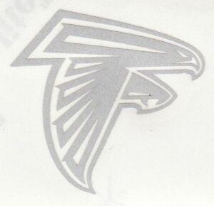 REFLECTIVE Atlanta Falcons 2.5 inch fire helmet hard hat decal sticker RTIC