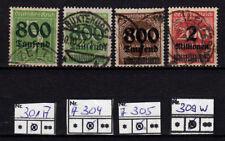 Deutsches Reich, DR 301, 304, 305, 309W, diese geprüft, sauber gestp. siehe Scan