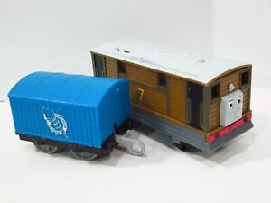 Thomas & Friends Trackmaster Motorized Talking Toby & Tender Train Tested Works