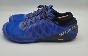 Merrell Vapor Glove 3 J12676 Barefoot Women's Running Shoes Baja Blue Sz 11 NWOB