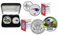 NEW ENGLAND PATRIOTS Officially Licensed NFL 2-COIN SET w/ Deluxe Display Box