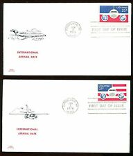 #C89-C90 Set of 2 FDC's  Nice Colonial Cachets Unaddressed  FD4209