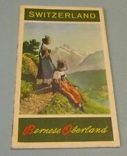 1953 Bernese Oberland Switzerland Travel Brochure Holiday Resorts Mountain Views