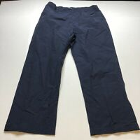 Lauren Ralph Lauren Womens Cotton Nylon Dark Blue Casual Pants Size 14 A1992