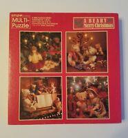 Springbok Hallmark Multi Puzzle A Beary Merry Christmas 4 in 1 Jigsaw COMPLETE
