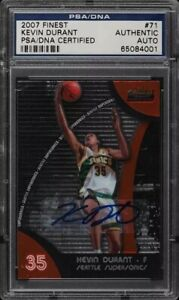2007 Topps Finest Basketball Kevin Durant Rookie Auto #71 RC PSA/DNA Authentic