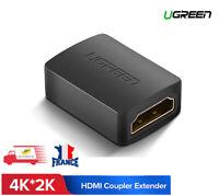 UGREEN Adaptateur HDMI Femelle Connecteur HDMI Extension HDMI Rallonge 4K*2K 3D
