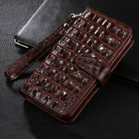 Luxury Crocodile PU Leather Flip cover Card Slot Business Wallet Case For ASUS