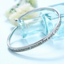 Fashion Korean Style Lover Exquisite Charm Letter Engraved Cuff Bracelets Gift