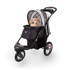 New listing Pet Stroller for Dogs and Cats with Air-Filled Tires with Built-in Black