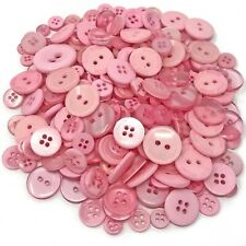 Pink 100 Gram Mix Acrylic & Resin Buttons For Cardmaking Embellishments