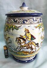 Bonito tarro de cerámica hecho y pintado a mano, nice ceramic jar handmade paint