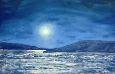 Full Moon Over the Mountains (10.5 x 15.5) - Giclee Print