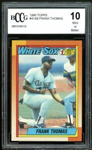 1990 Topps #414B Frank Thomas Rookie Card BGS BCCG 10 Mint+