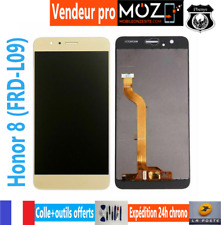 ECRAN LCD+VITRE TACTILE MOBILE+LOGO HONOR 8 (FRD-L09) DORE/OR/GOLD+COLLE/OUTILS