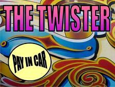 the Twister Vintage Estilo LETRERO METAL COCINA VINTAGE Feria Letrero