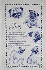Pug T-Towel Tea Towel Dog Lover Gift