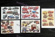 bu048 - 5 artist postcards of Commercial Vehicles by G S Cooper - Mint Condition