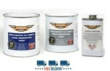 1.25L Rustbuster EM121 Epoxy Mastic Rust Proofing Paint Black Classic Car