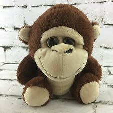 Inter American Products Monkey Plush Brown Chimp Cute Big Head Stuffed Animal