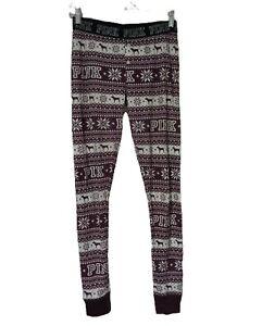 VICTORIAS SECRET x PINK Dog Thermal Long Jane Pajama Pants Bottoms Nordic Medium
