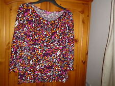 Pink, purple, multi pattern top, THE DEPARTMENT size 12, NEW office or casual