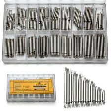 A Box of Stainless Steel Watch Band Spring Bars Strap Link Pins 8-25mm Repair