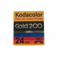 Vintage New Kodak Color 110 Film Sealed in Box 24 Exposure Kodacolor Gold 200